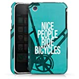 Apple iPhone 3Gs Coque Étui Housse Nice People Ride Bicycles