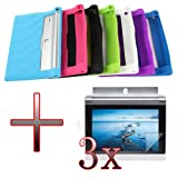 XMY Silicone Gel Rubber Case Cover Fall-Abdeckung +3x Film For 10.1