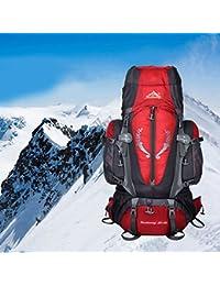 hjuns 85L multiusos impermeable grande al aire libre Camping Escalada Mochila Senderismo Mochila, rojo