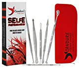 CANDURE® - 6 Pieces Beauty Set - Professional Blackheads Whiteheads Remover Extractor Facial Tool - blemish remover - Skin care tools - Comedone Extractor - Facial Treatment - Treatment of Acne and Pimple - Flat and Round Wired Ends - Stainless Bild