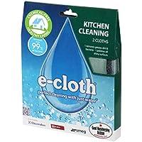 E-cloth Pack cuisine Chiffon de nettoyage multi usage + chiffon à lustrer/verre