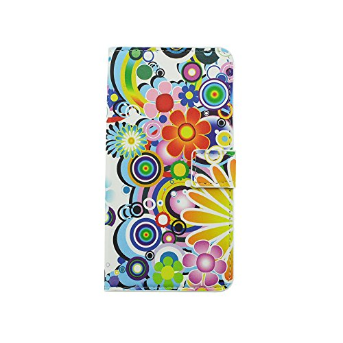 Meet de Huawei G Play mini/Honor 4C PU Housse / Wallet / flip étui / Pouch / Case / Holster / Wallet / Case, (Les motifs floraux) fleur d'amour pour Folio en cuir Wallet Style de couverture de cas Coq Fleurs