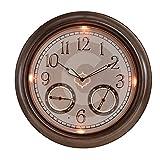 Gardman LED-Leuchtuhr, bronze, 45x8x45 cm, 17242