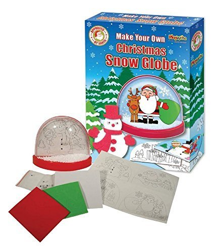 mache deine eigene Weihnachten Schneekugel Xmas Basteln Aktivität Kühlschrankmagnet (Schneekugel-display Weihnachten)