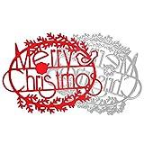 TEBAISE Weihnachten Karneval Deko Frohe Weihnachten Metall Stanzformen Schablonen Scrapbooking Prägung DIY Crafts