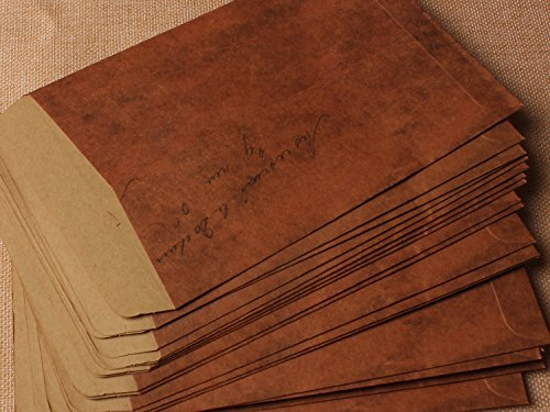Xeibd 10pcs papier kraft Style vintage Kraft enveloppe 16x 11cm (couleur marron)