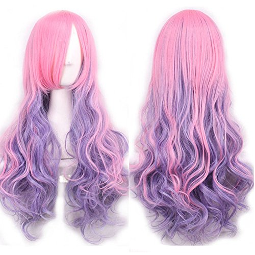 y Perücke, 75cm Lolita-Stil Lang Wellig Harajuku Style Cosplay Peruecke Haarperücke Fashion Qualitativ Hochwertige Haarteil für Karneval / Mottoparties / Cosplay Party / Halloween / Troll Festival (H01) (Halloween-party-kostüm-box)