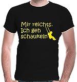 buXsbaum Herren T-Shirt Mir reichts. Ich geh schaukeln | Sprüche Funshirt | XL, Schwarz
