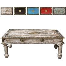 Heller Couchtisch Wohnzimmertisch Tisch Holztisch Shabby Vintage Retro Nostalgisch Used Look Antik Landhaus
