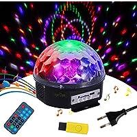 Tomshine RGBW Bola Discoteca, Mini Bola Giratoria Mágica LED Efecto de Luz, Música o Remoto Control perfecto para Disco, Escenario, Show de Baile, KTV, Fiesta, Boda, Pub, Bar, Cumpleaños