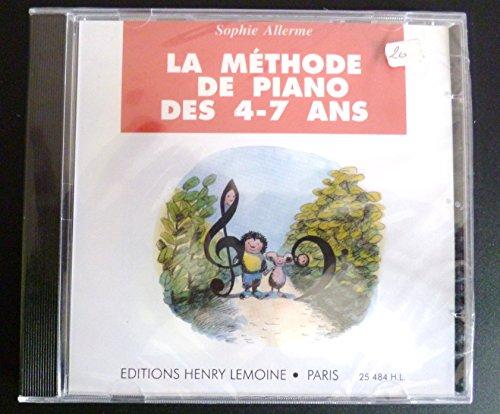 Méthodes et pédagogie LEMOINE ALLERME SOPHIE - MÉTHODE DE PIANO DES 4-7 ANS - CD SEUL Piano