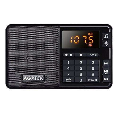AGPTek R08 Mini formato MP3 player, FM Radio e registratore vocale/Radio