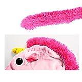 Einhorn Kostüm Erwachsene Tier Jumpsuits Onesie Pyjama Nachthemd Nachtwäsche Cosplay Overall Hausanzug Fastnachtskostuem Karnevalskostüme Faschingskostüm Kapuzenkostüm (XL: Für Ihre Höhe :181 - 190cm, Pink) -