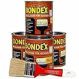 Bondex Holzlasur für Aussen 3L / 4 x 0,75L / inkl. 50mm Pinsel in Kiefer