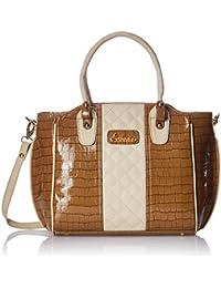 ESBEDA Beige color Solid Handbag for women
