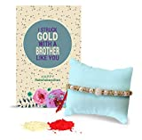#5: TiedRibbons Gift for Rakhi | Rakhi for Brother | Rakshabandhan Gift for Brother | Gift for Rakshabandhan | Gift for Rakhi | Rakhi for Brother Handmade Rakhi with Roli chawal Pack and Rakshabandhan Special Placard