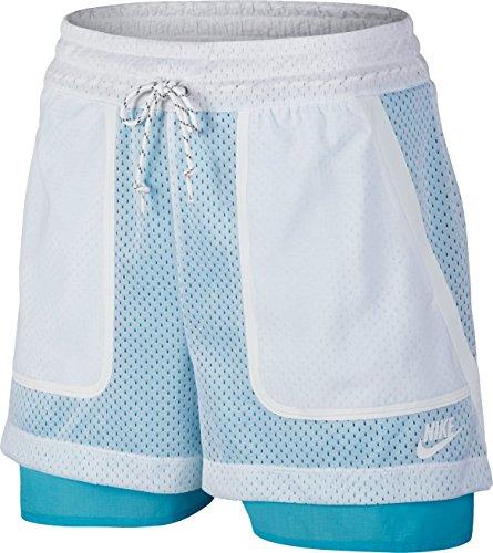 Nike Damen Oberbekleidung Premium Pack Shorts weiß, L - Premium-jugend-hosen