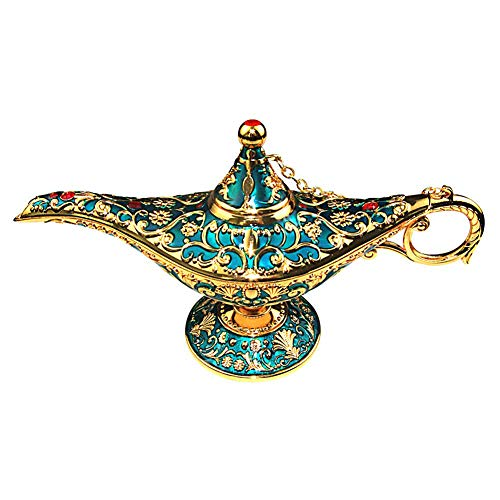 3~yueda Vintage Magic Genie Wishing Light Klassische Arabische Kostüm Requisiten Lampe Tabletop Decor Handwerk für Zuhause Hochzeitsdekoration