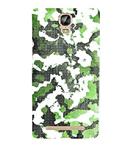 Army Fatigue Pattern 3D Hard Polycarbonate Designer Back Case Cover for Gionee Marathon M5 Plus