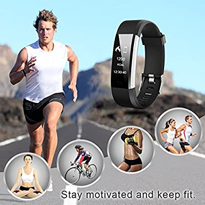 Letsfit Fitness Tracker HR, Activity Tracker Watch with Heart Rate Monitor, IP67 Waterproof Smart Bracelet as Calorie Counter Pedometer Watch for Android and iOS from Letsfit