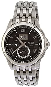 Citizen Eco-Drive Analog Black Dial Men's Watch - BT0001-63E