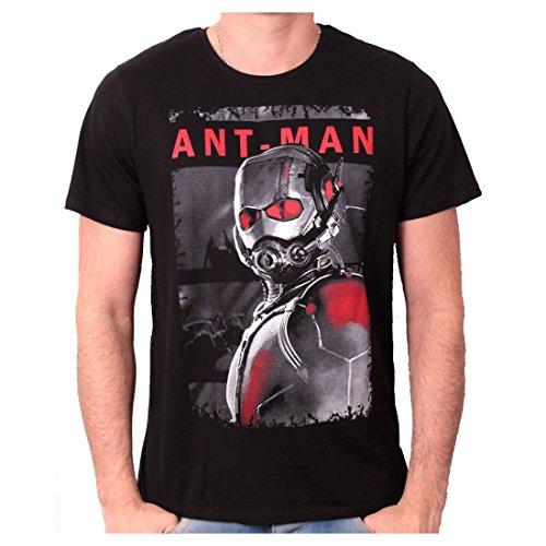 Tshirt Herren ant-man–White and Red Poster Schwarz - Schwarz