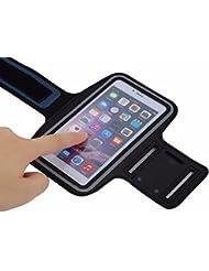 Brassard Sport Running pour smartphone Anti-Sueur et renforcé avec sangle réglable compatible iPhone 6 6S 6Plus 7 7plus Samsung Galaxy S6 S7 SONY Asus HTC et autres téléphones de Grande taille