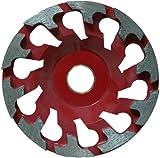 Diamantschleifer Schleifteller Schleiftopf passend für Festool RenoFix RG 130 oder Protool RGP130 (130mm - rot - abrassiv)