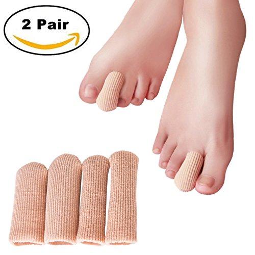 SOFIT Silikon-Gel Zehenschutz/Zehen Schlauchbandagen, Zehenschutz aus Silikon, Zehenschutz Zehenkappen für Fuß Hühneraugen, Schmerzlinderung von Blasenbildung Komfort 2 Paar (1 Paar L und 1 Paar S)
