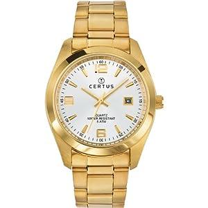 Reloj Certus 617006 de cuarzo para hombre con correa de metal, color dorado de Certus