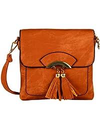 Lavu&me Women's Sling Bag For Girls/women Brown (Tan,Brown Casual Sling Bag LE147B)