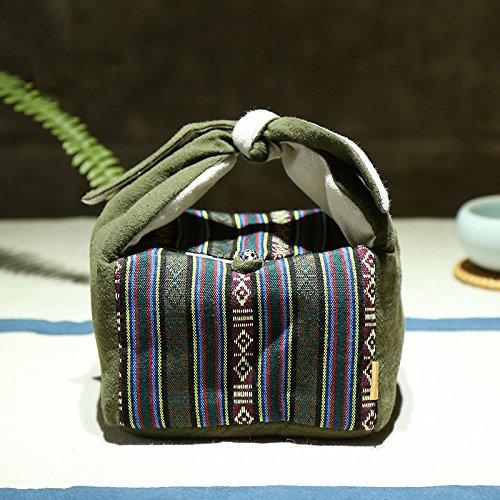 zeetoon japanischen Stil, tragbar Travel Tee Set Teaware Aufbewahrungstasche für 1Teekanne 3Teetasse/4TEE Tassen Outdoor Quick Cup Handtasche Paket (Abb Tee)