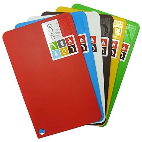 Taglieri colorati flessibili - set di 6. grandi 38x24cm.