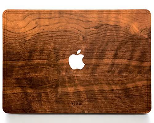 Woodwe Echtholz MacBook Skin für Mac Air 13 Zoll Non Retina Display, Modell: A1237 / A1304 / A1369 / A1466; Anfang 2008 - Mitte 2017 - Natural IMBUIA - TOP NUR