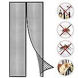 Coedou Magnet Fliegengitter Tür 70 x 205 cm, Der Magnetvorhang ist Ideal für die Balkontür, Kellertür Und Terrassentür, Kinderleichte Klebemontage Ohne Bohren