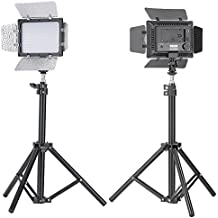 "Bestlight®W160 estudio de luz Led de Barndoor luz continua iluminación de Panel de luz LED Kit de Video para Sony, Canon, Panasonic, Hitachi, Samsung & Similar cámaras digitales réflex - incluyendo (2) W160 LED de video barndoor con 2 color Gel de nido de abeja, (2) aluminio fotografía vuelve luz Stands con 32""/ 80cm altura máxima para Relfectors Softboxes, Luces, Sombrillas, Fondos"