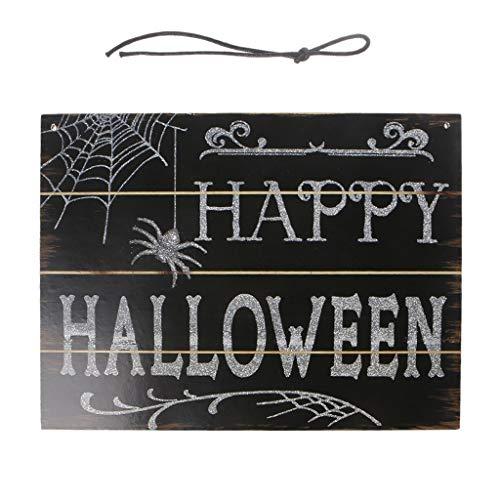 Senoow Happy Halloween Wand Zeichen Holz Hängende Plaque Tür Dekor Spukhaus Requisiten