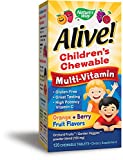 Nature's Way, Alive! Children's Chewable Multi-Vitamin, Natural Orange & Berry Flavors, 120 Chewable Tablets by Nature's Way