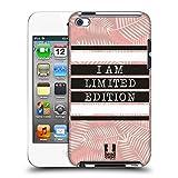 Head Case Designs Limitierte Auflage Schwarz und Pink Ruckseite Hülle für Apple iPod Touch 4G 4th Gen