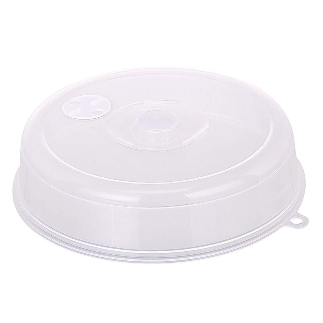 Mazur Tapa de la cubierta de la placa de microondas con orificios de ventilación Tapa del recipiente de conservación Tapa de salpicadura de microondas apilable Tapa del disco de sellado (color: transparente)