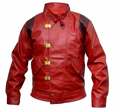 Classyak Herren Jacke Faux Red