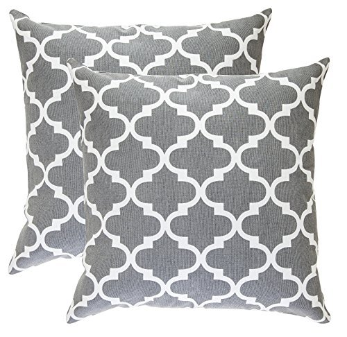 treewool-pack-of-2-cotton-canvas-trellis-accent-decorative-cushion-covers-45-x-45-cm-graphite