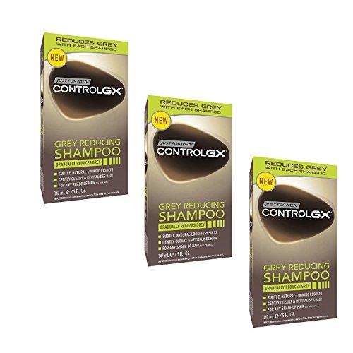 3x Just for Men Control GX Grey Reducing Shampoo