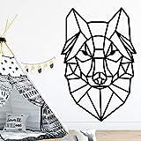 BFMBCH Adesivo murale motivo cane carino Adesivo animali cartoon Cameretta per bambini Bagno Arte Famiglia Decorazione per feste Adesivo murale animale 43cm X 65cm