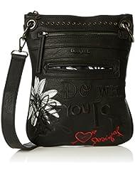 sac desigual 67x51h7 bandolera black daisy noir