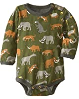 Hatley Baby Boys 0-24m Long Sleeve One Piece: Prehistoric Animals Romper