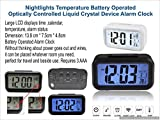 #4: Nightlights Temperature Battery Operated Optically Controlled Liquid Crystal Alarm Clock (Black)
