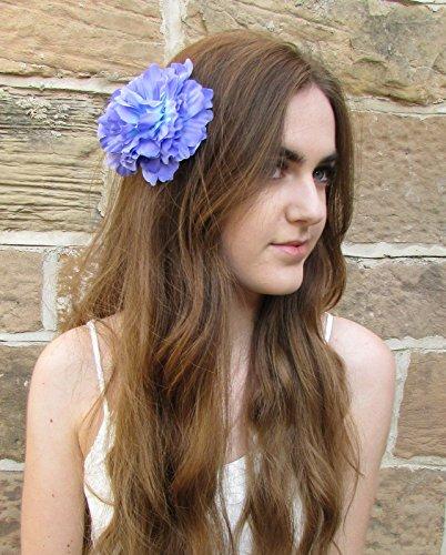 Grand Violet clip cheveux fleur pivoine rose corsage/festival/style bohème VTG Y02 * * * * * * * * exclusivement vendu par – Beauté * * * * * * * *