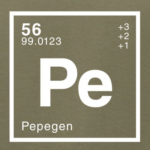 Pepe Periodensystem - Herren T-Shirt - 13 Farben Khaki