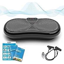 Bluefin Fitness Pedana vibrante Vibro Massaggiante Oscillante Dimagrante con Altoparlanti Bluetooth, Motore Silenzioso 1000 W, 180 livelli integrati 5 Programmi, Schermo LCD e Telecomando